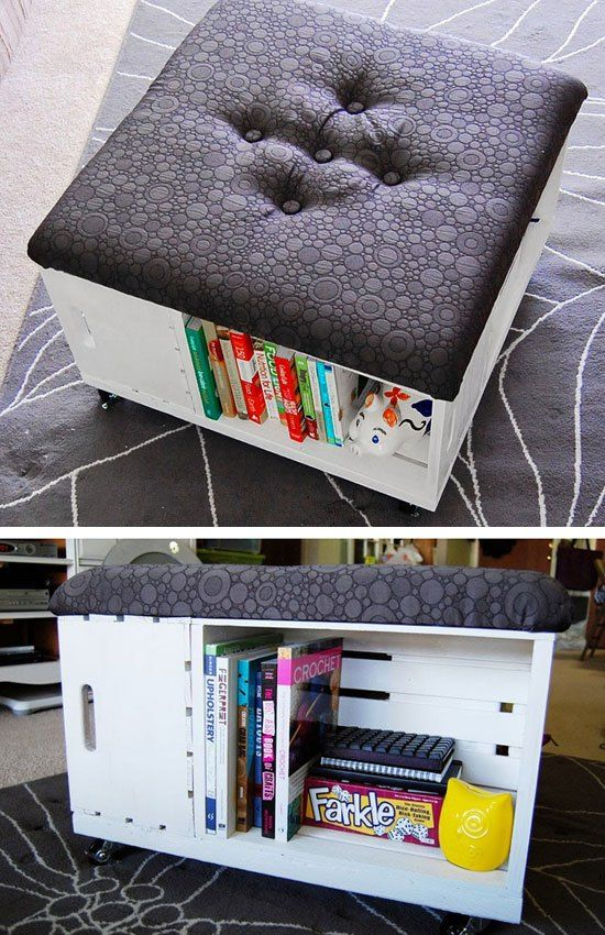 DIY Ottoman With Storage | Click Pic for 26 DIY Living Room Decor on a Budget | DIY Living Room Decorating Ideas