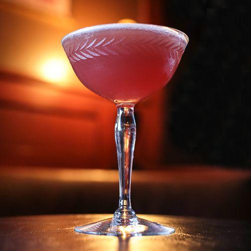 Scofflaw: 2 oz Bourbon or rye whiskey 1 oz Dry vermouth .25 oz Fresh lemon juice .5 oz Grenadine 2 dashes Orange bitters Glass: Cocktail