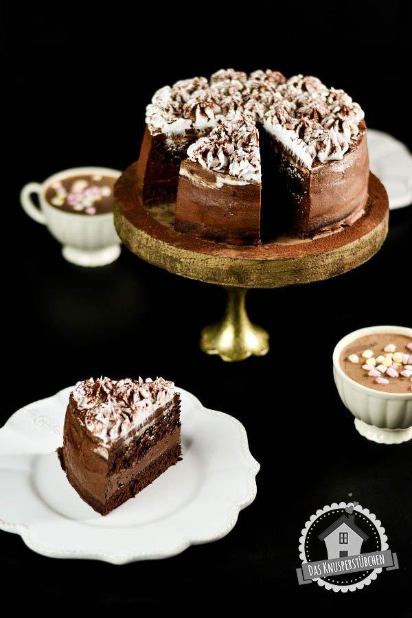 Für kalte Tage: Heiße Schokolade-Marshmallow-Torte