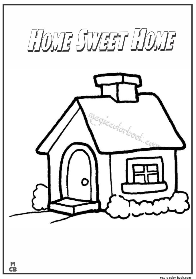 My home colouring pictures.