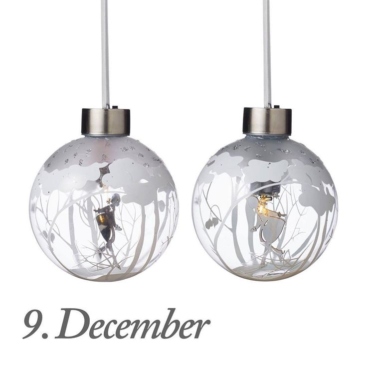 Good morning! 9th of December today. The design of the day are our Glass baubles with Skating girl, pack of two. Like our Facebook page & the post of the day and you might be the lucky winner! The Glass babules with Skating girl are on offer today and cost 149,00 dkk in our web-shop www.jettefroelich.dk, but for today only! (Normal price 249,-) These baubles have the new batteri solution like our Flower girl baubles. #christmascalender #christmasgiveaway #facebook…