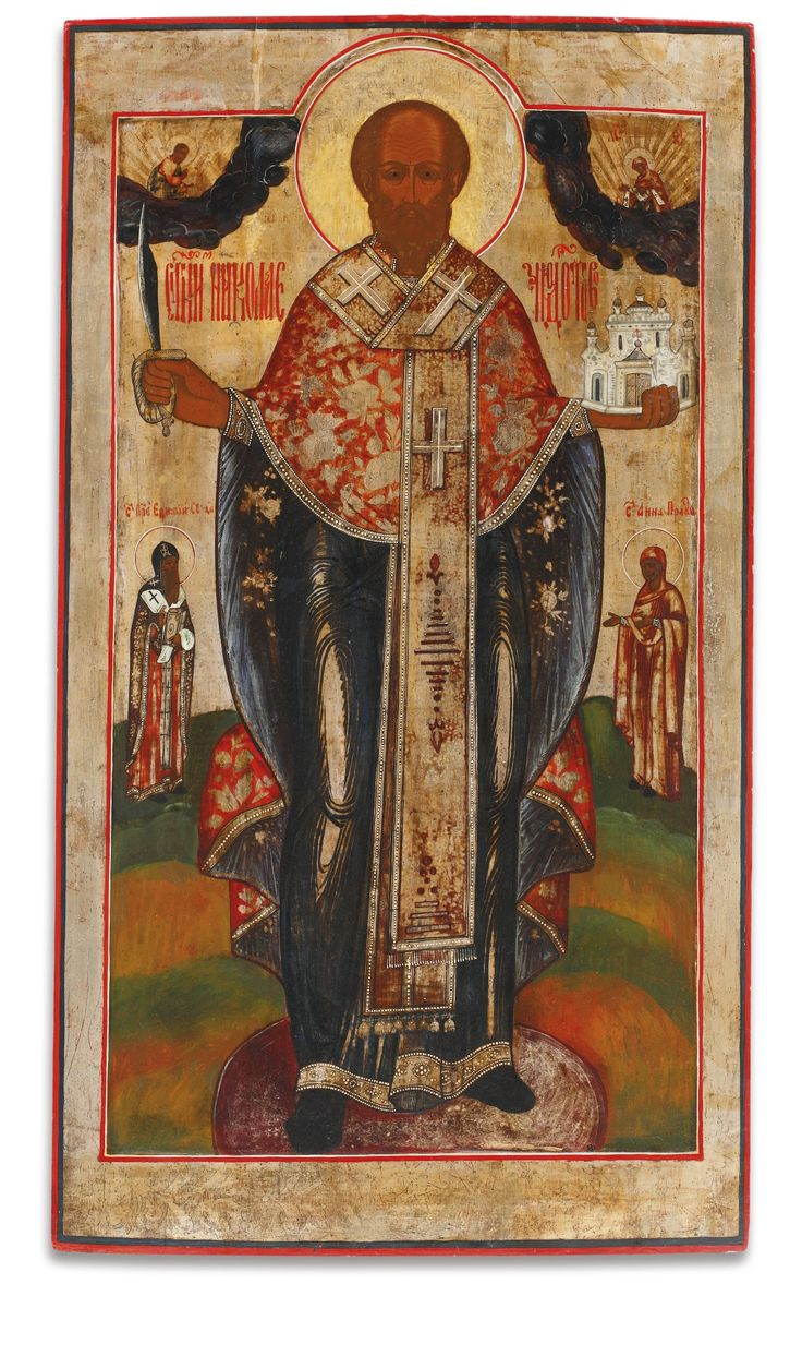 A Russian Icon of St. Nicholas of Mozhaisk, 19th Century