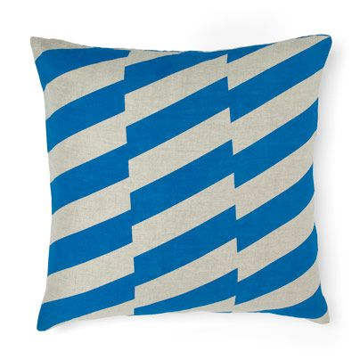 Staggered Cushion in Brillant Blue 50cm