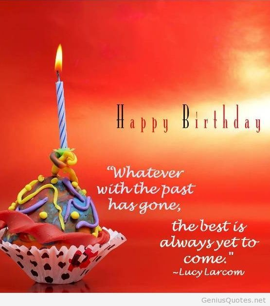Happy Birthday Quote Card On A Walpaper