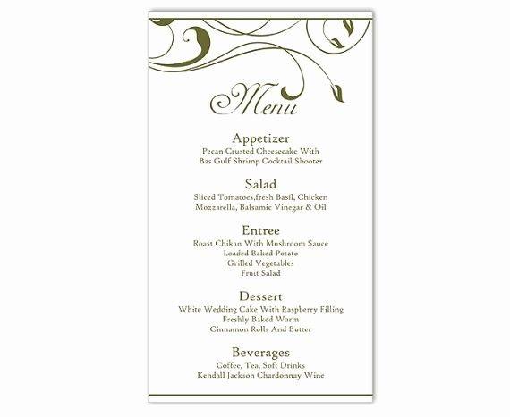 50 Fresh Free Printable Menu Card Template In 2020 Diy Wedding