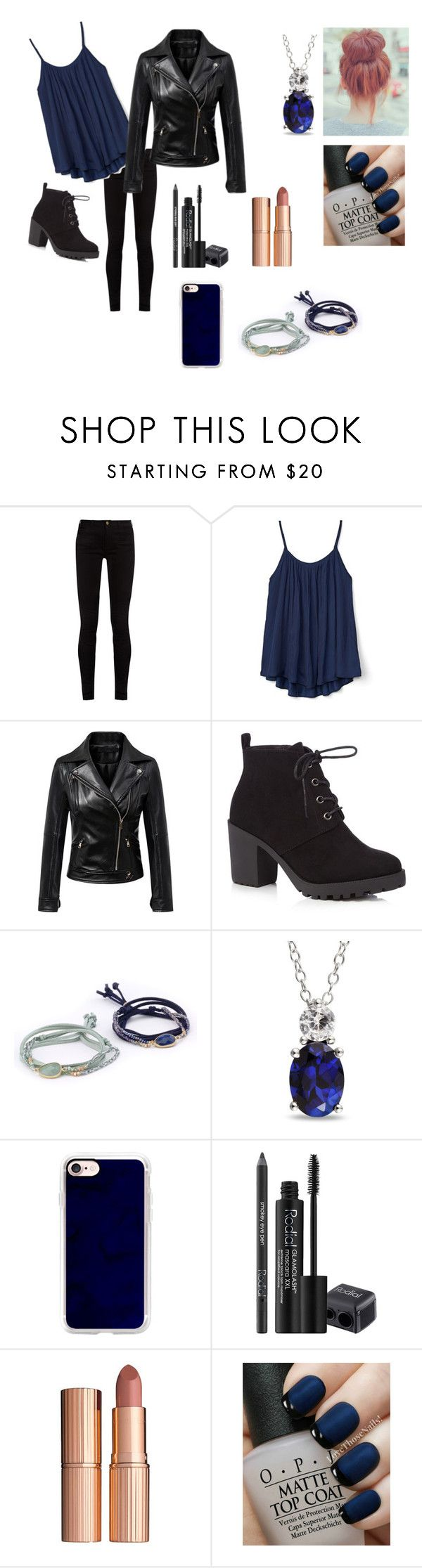 """#blue #redhead #boots #charmbraclet #necklace #lipstick"" by annabethjames ❤ liked on Polyvore featuring Gucci, Gap, Red Herring, Ice, Casetify, Rodial, Charlotte Tilbury and OPI"