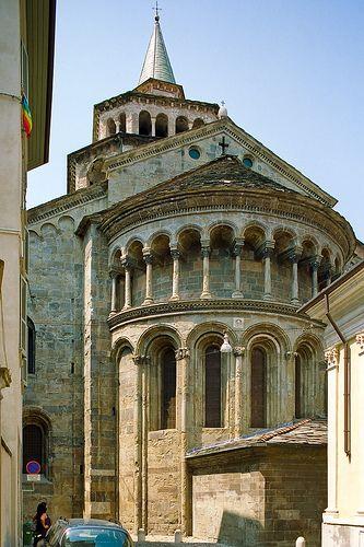 ) Bergamo: Basilica di Santa Maria Maggiore, province of bergamo , Lombardy region Italy