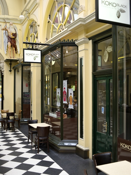 The Royal Arcade : Koko Black see if there is room upstairs!