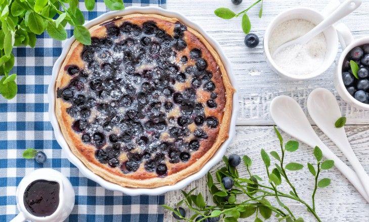 Det här är en fantastisk blåbärspaj som är väldigt lätt och göra.