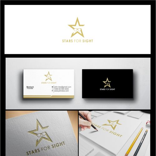 Stars for Sight �20Create a logo for celebrities to donate glasses for charity