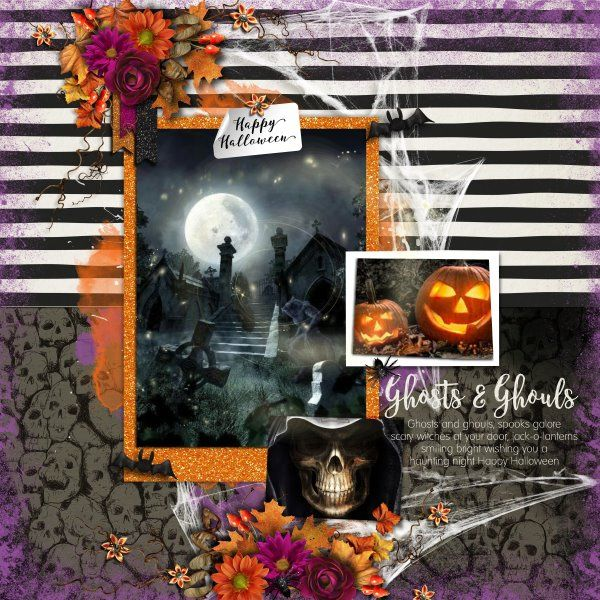 Kit Falloween by Raspberry Road Designs. Template Spooktacular #1 By Heartstrings Scrap Art.