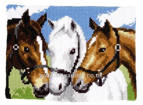 Buy Three Horses Chunky Cross Stitch Kit Online at www.sewandso.co.uk