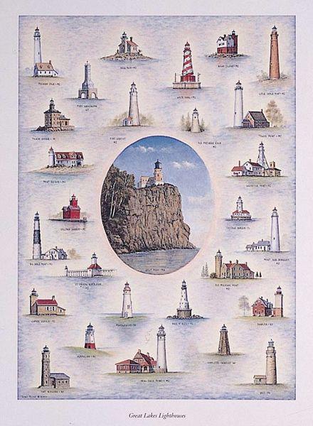 Great Lakes Lighthouses | great lakes lighthouses hatteras nc lighthouse hilton head sc ...