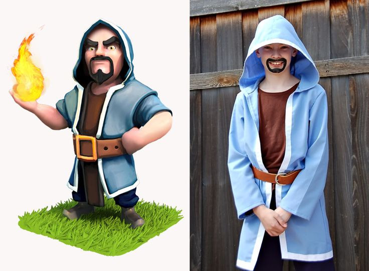 clash of clans wizard costume google search costumes pinterest clash of clans sorciers. Black Bedroom Furniture Sets. Home Design Ideas