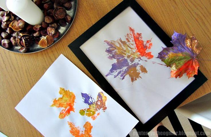 Efterårs sjov med maling og blade // Kreativ efterårsferie - PynteMynthe og Mor