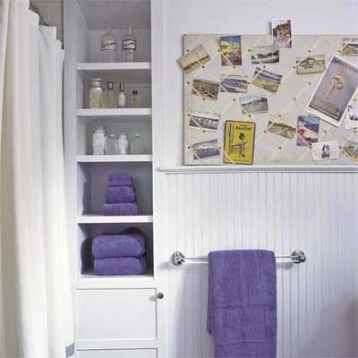 Bathroom Built In Shelves, Lots More On This Blog