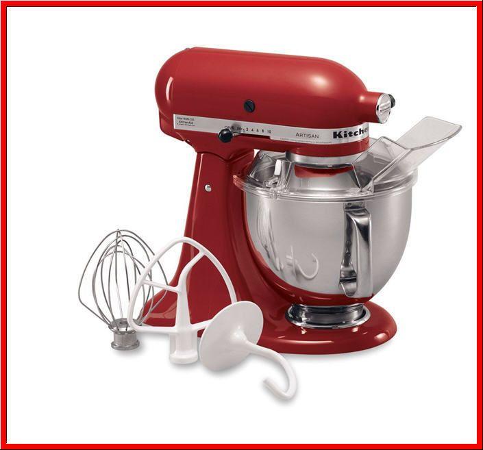 Kitchenaid 5 Qt Stand Mixer 325 Watts 10 Sds Attachments Red New