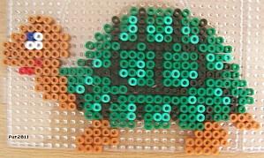 Schildkröte  Bügelperlen / Turtle hama perler beads