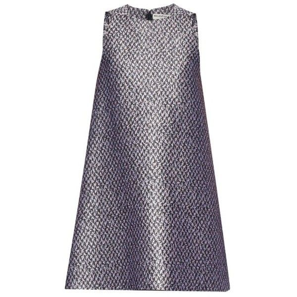 Balenciaga Tweed-jacquard sleeveless dress (13 065 SEK) ❤ liked on Polyvore featuring dresses, vestidos, balenciaga, short dresses, black pink, pink mini dress, short sleeveless dress, jacquard dress, mini dress and short black dresses
