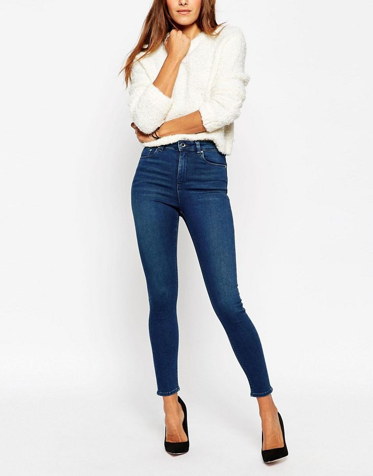 ASOS+RIDLEY+Skinny+Ankle+Grazer+Jeans+In+Mahogany+Wash