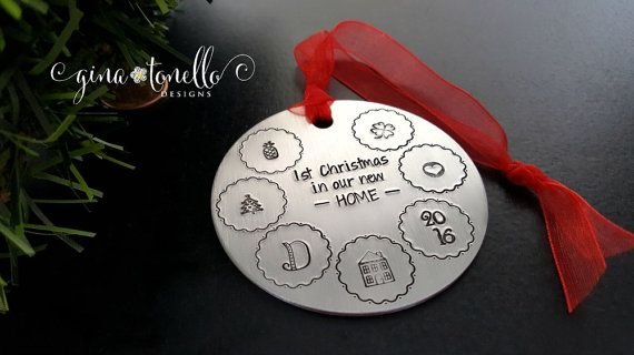 New Home Ornament, New House Christmas Ornament, Personalized Housewarming Gift, First Home Ornament, New Home Gift, Personalized Ornament…