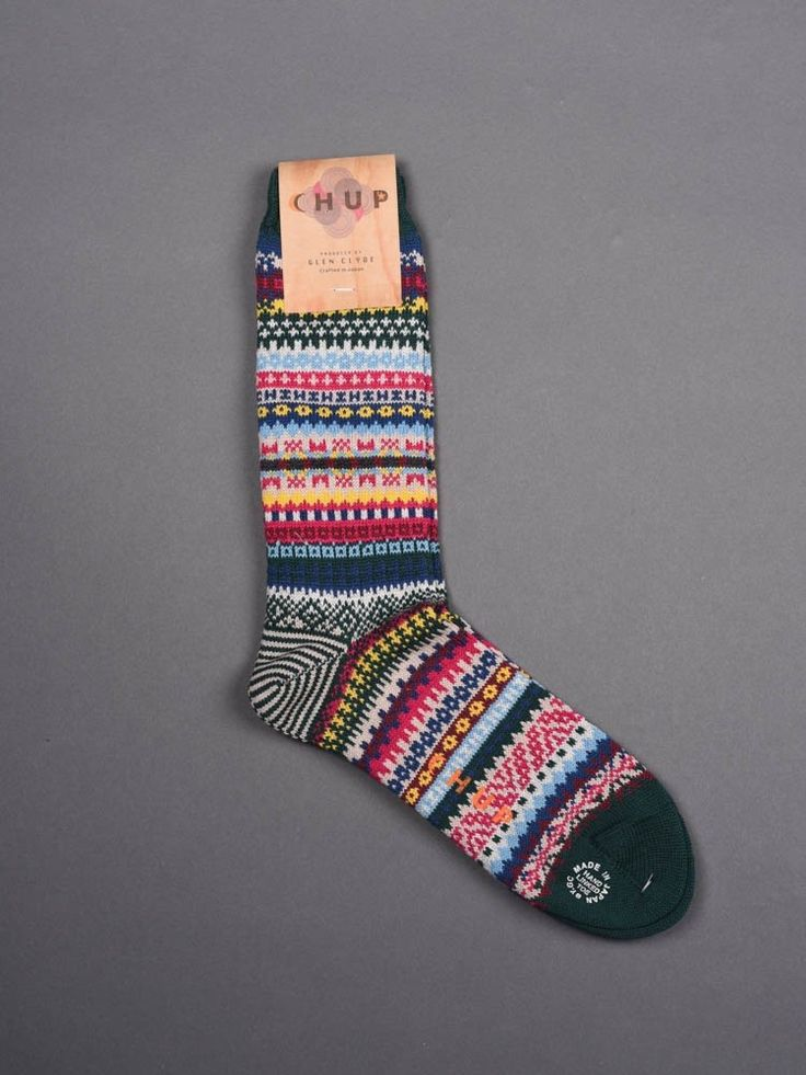 Chup Socks - Triphon - Green -Hand-linked toe -Crafted in Japan