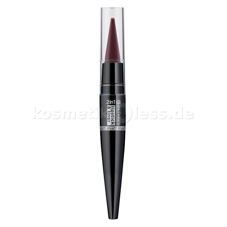 essence - Lippenstift - 2in1 matt lipstick & liner - 05 more is more…