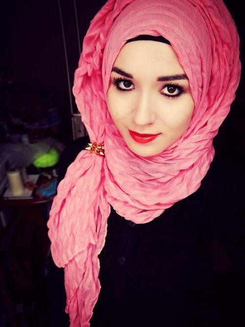 pink fashion hijab dress summer