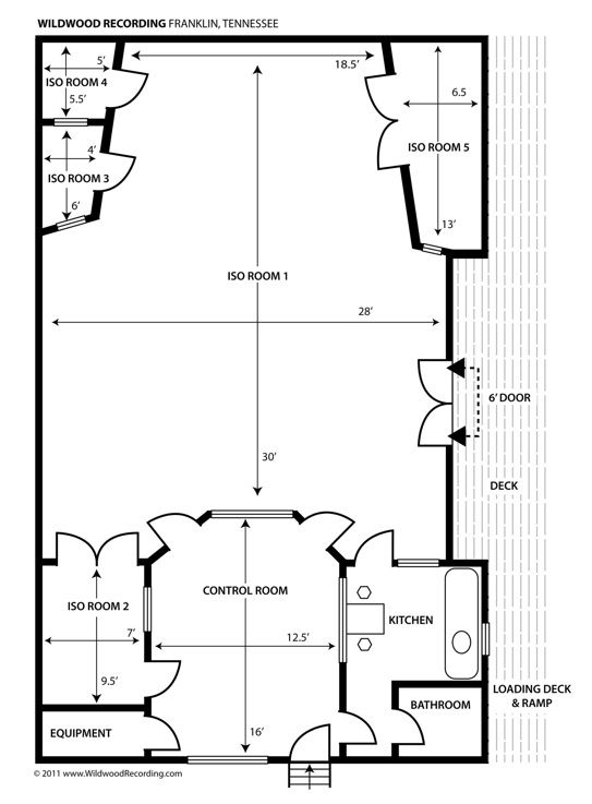 Home Recording Studio Floor Plans
