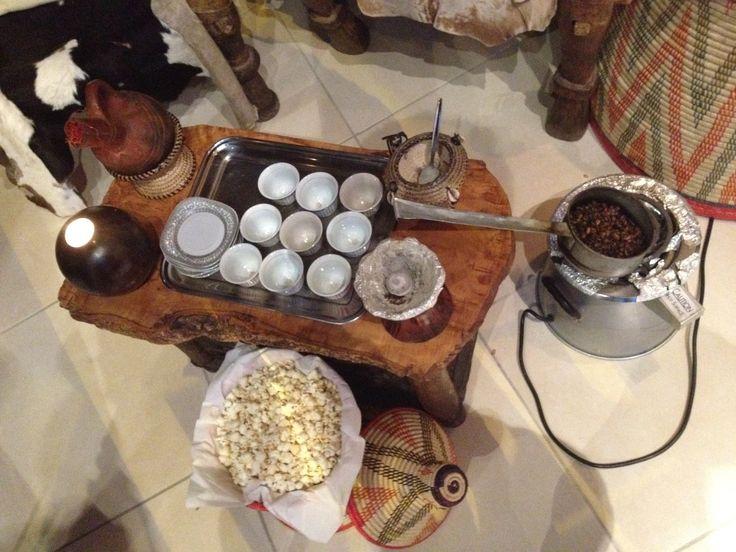 Eritrean coffee ceremony at Adulis, St John's Hill, Battersea
