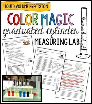 Color Magic Graduated Cylinder Practice Liquid Volume Measuring Lab ... measuring liquid volume precisely ... science process skills ... tools and measurement in science