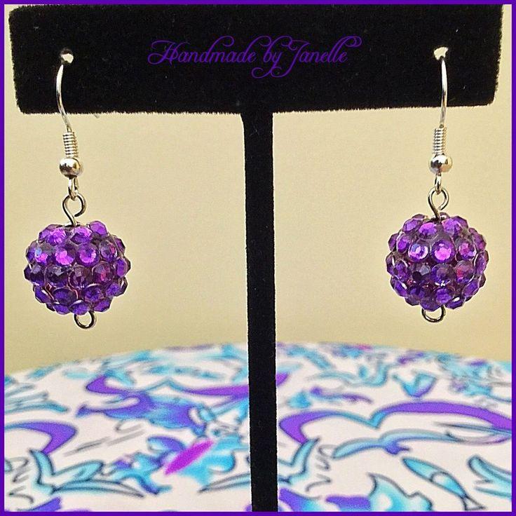 Purple Cluster Bead Drop Earrings Handmade shop @ http://stores.ebay.com.au/Handmade-by-Janelle?_rdc=1