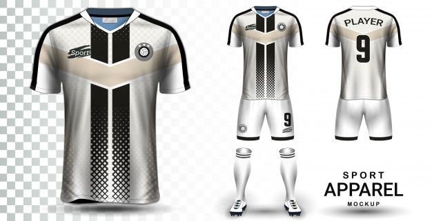 Soccer Jersey And Football Kit Modelo De Maquete De Apresentacao In 2020 Soccer Jersey Sports Shirts Football Kits