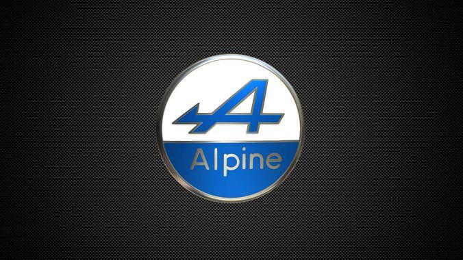 alpine logo | 3D model