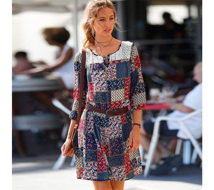 Šaty s patchworkovou potlačou | blancheporte.sk #blancheporte #blancheporteSK #blancheporte_sk #spring #summer #wear