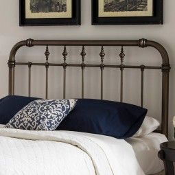 Vienna Iron Bed in Aged Gold - Headboard