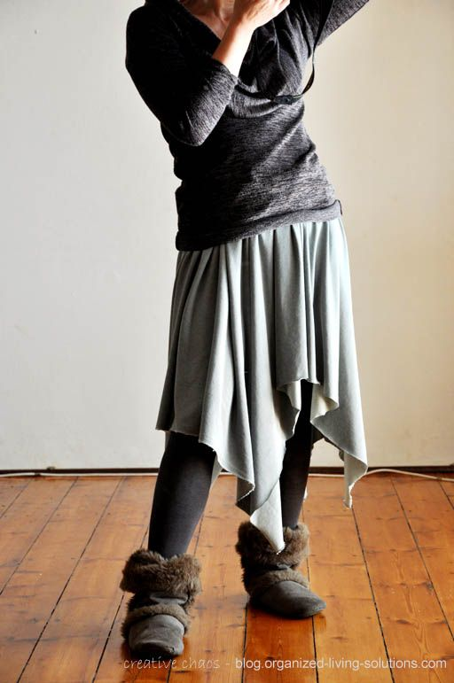no-sew skirt DIY - needs elastic for the waist instead of rope (!!!) but a cute idea for skirt