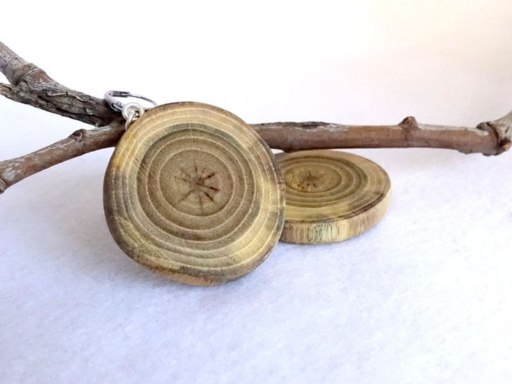 Boucles d'oreilles classiques, Boucles rondes bois, boucles simples naturelles est une création orginale de les-boisettes sur DaWanda