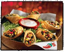 Southwest Eggrolls! Stole the idea from Chili's: Mix desired amount of spinach (chopped), corn, red bell pepper, black beans, grilled chicken, and jack cheeses together. Place on flour tortillas, roll up and fry. Serve with avocado ranch