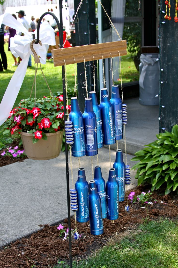 Budlight Cans Wind Chime Redneck Country Wedding