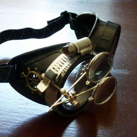 Steampunk Victorian Goggles welding Glasses diesel punk Apocalyptic Party Costume Accessory