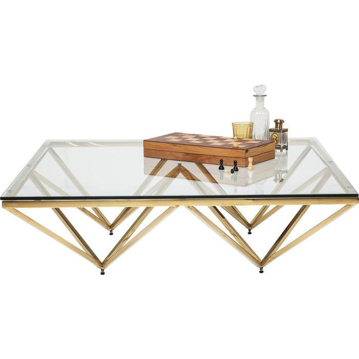 Kare Black Coffee Table: Coffee Table Network Gold 105x105cm - KARE Design