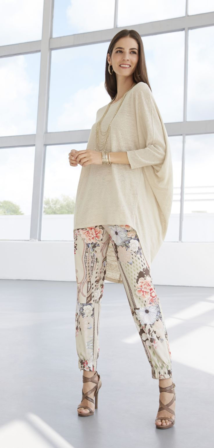 The Printed Jogger - A major shape this season, it's surprisingly versatile with a neutral shirt in drapey jersey.