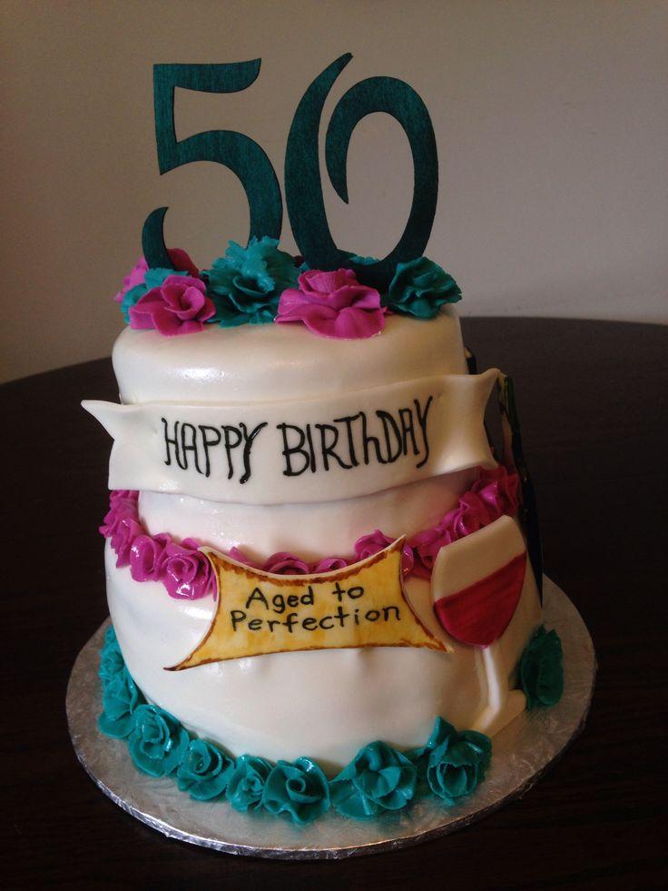 Wine cake 50 th Birthday