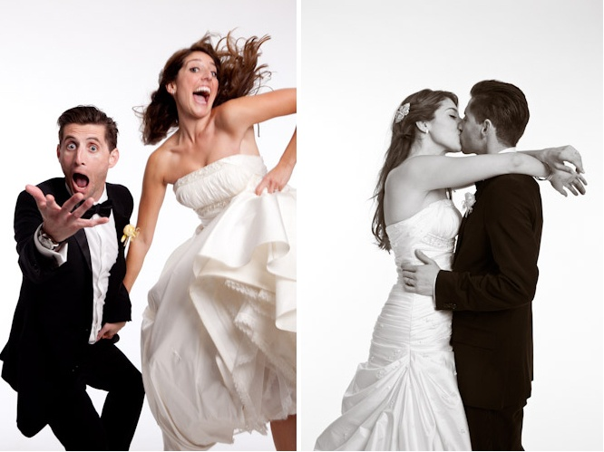 What a cute and funny couple! Photography by michaelsegalweddings.com