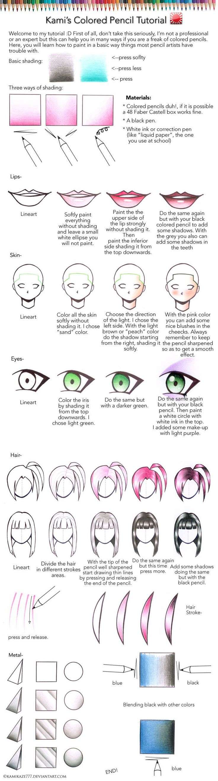 Colour Pencils Tutorial by =Kawanokami on deviantART
