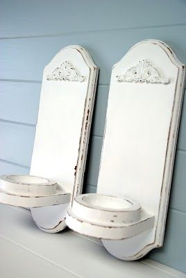 The Speckled Dog: Drab to Fab - Shabby Chic Wall Sconces