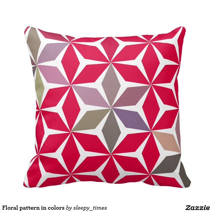 Floral pattern in colors throw pillow.  #zazzle http://www.zazzle.com/floral_pattern_in_colors_throw_pillow-189425485561545682