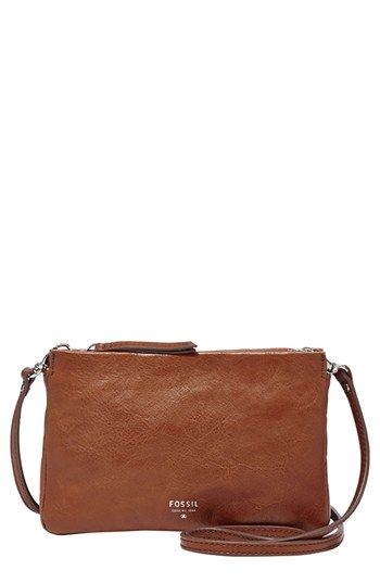 $88, Mini Crossbody Bag Brown by Fossil. Sold by Nordstrom. Click for more info: http://lookastic.com/women/shop_items/48403/redirect