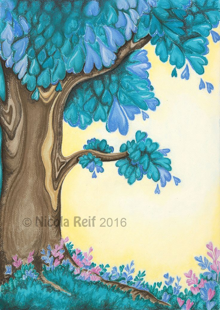 Tree of possibilities. Private Coimmission. Pastel and Pastel Pencil On Canson Mi Teints paper. Printed to canvas for client.